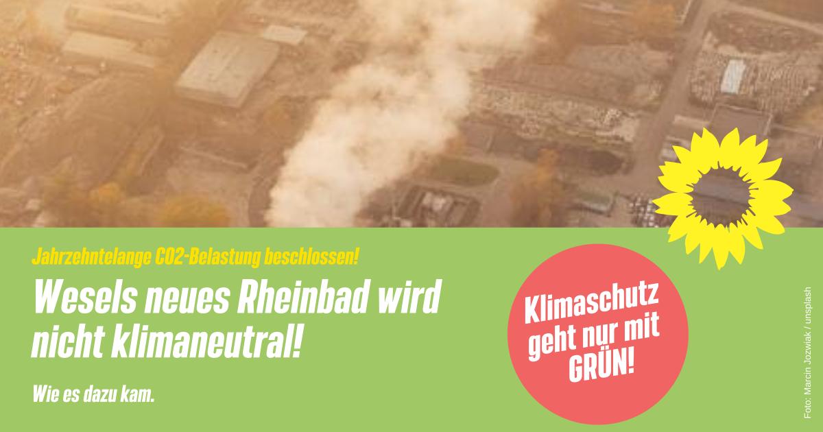 CO2-lastiges Energiesystem für das neue Rheinbad – Wie konnte es dazu kommen?